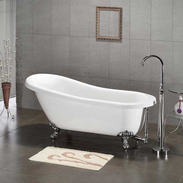 "Cambridge Plumbing 61.75"" x 31"" Claw Foot Slipper Tub"