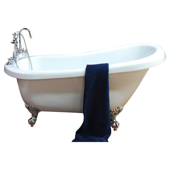 "Cambridge Plumbing 68.25"" x 31"" Claw Foot Slipper Tub 2"