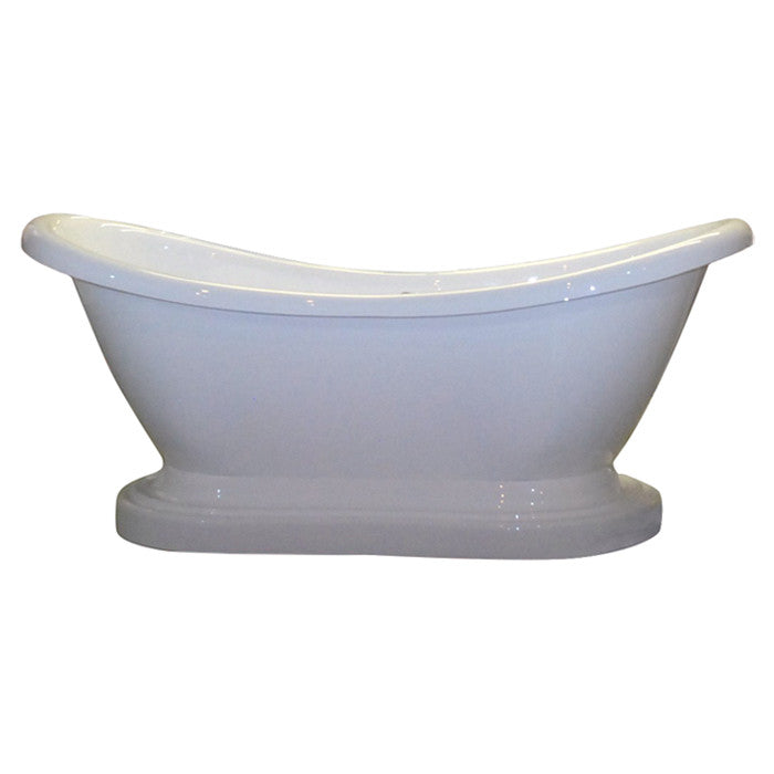 "Cambridge Plumbing 68.63"" x 29"" Pedestal Slipper Tub 2"