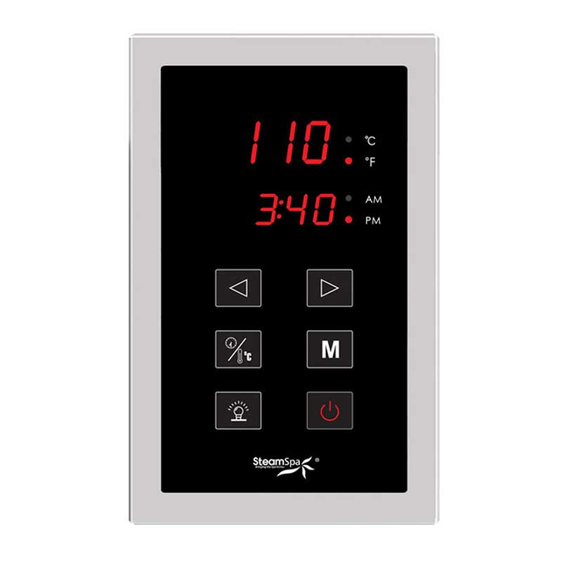 SteamSpa Indulgence Touch Panel Control Kit in Chrome 2