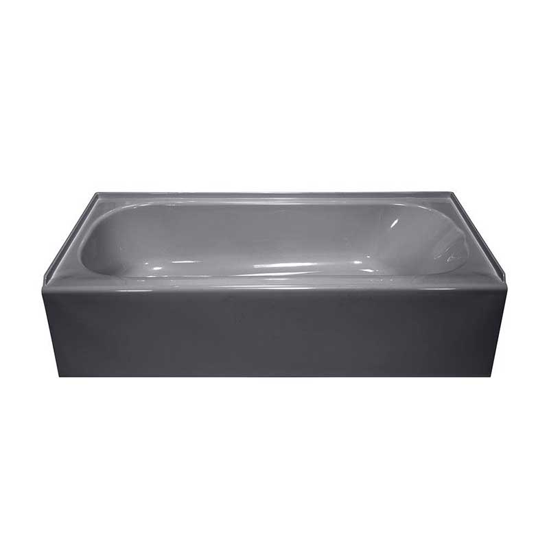 Lyons Industries Victory 4.5 ft. Left Drain Bathtub in Silver Metallic