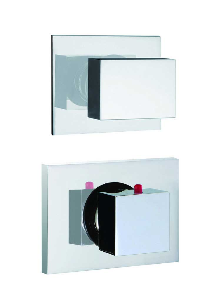 Fima by Nameeks Brick Chic Built-In Thermostatic Valve Trim with One Volume Control Handle