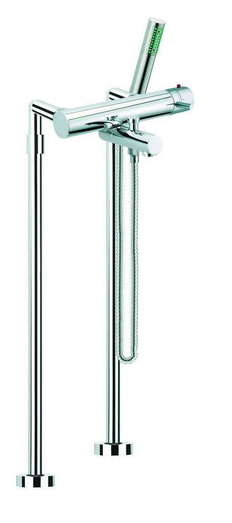 Fima by Nameeks Spillo Floor Mount Diveter Tub and Shower Faucet