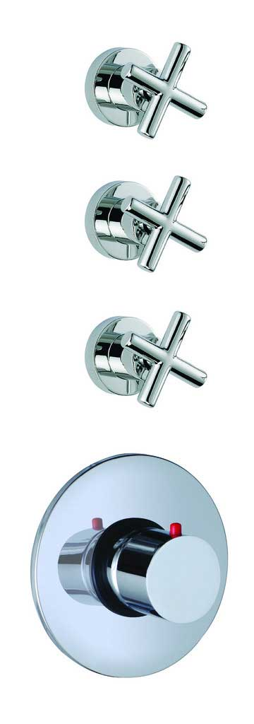 Fima by Nameeks Maxima Built-In Thermostatic Valve Trim with Three Volume Control Handles