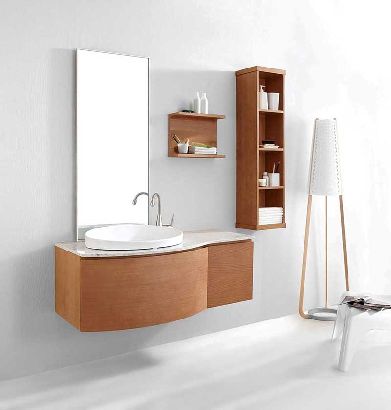 "Virtu USA Isabelle 48"" Single Bathroom Vanity Cabinet Set in Chestnut"