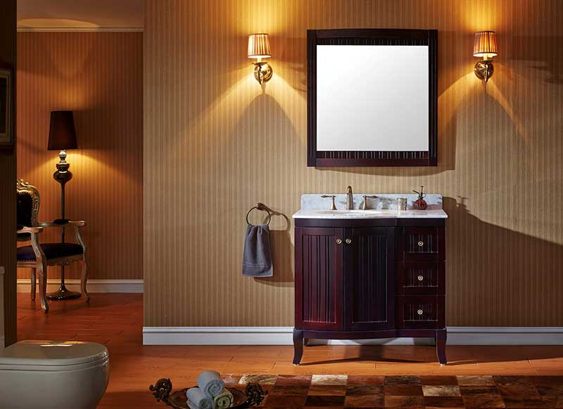 Virtu USA Khaleesi 36 Bathroom Vanity Cabinet in Espresso 2