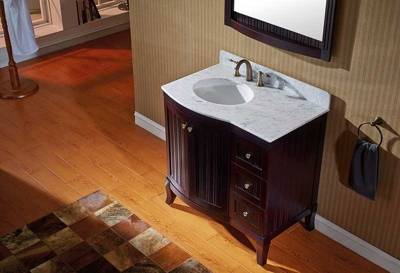 Virtu USA Khaleesi 36 Bathroom Vanity Cabinet in Espresso 4