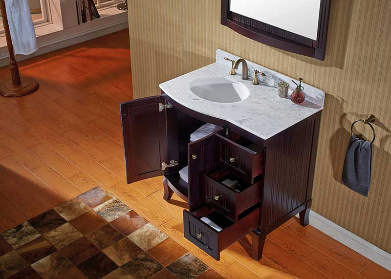 Virtu USA Khaleesi 36 Bathroom Vanity Cabinet in Espresso 5