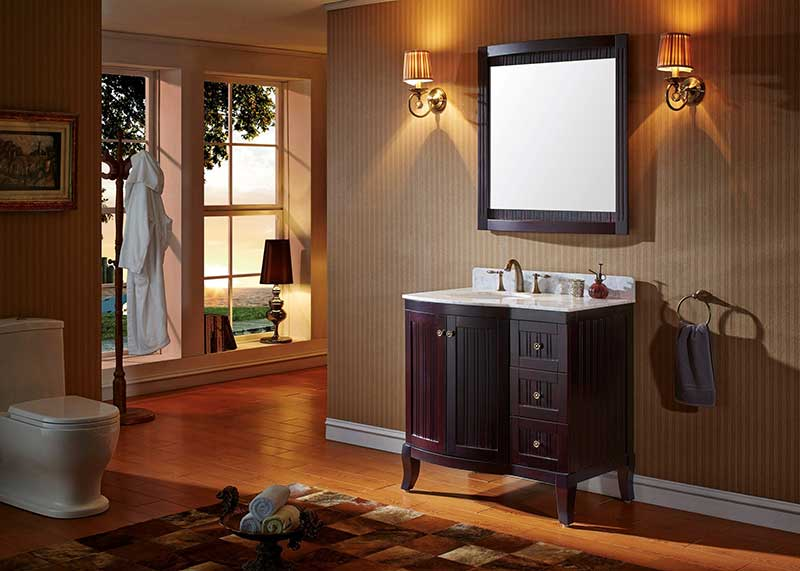 Virtu USA Khaleesi 36 Bathroom Vanity Cabinet in Espresso 6