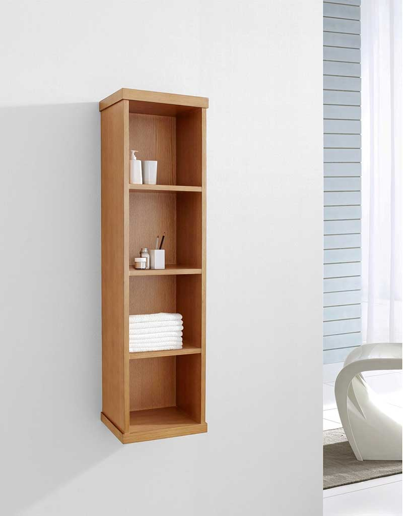 Virtu USA Hewitt 12 Modern Side Cabinet in Chestnut