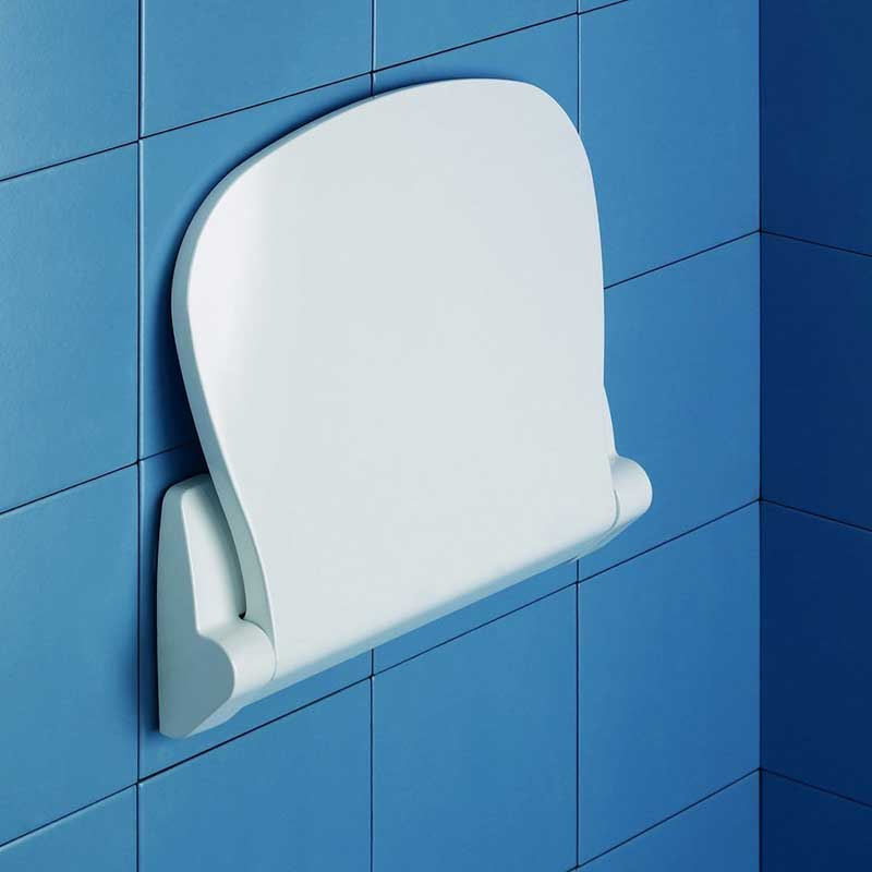 Gedy by Nameeks Sound Tilt-Up Shower Seat in White 2