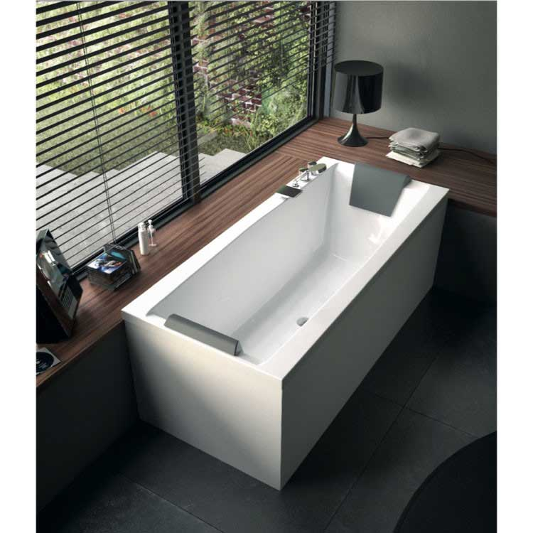 "Glass by Nameeks Eden 70.9"" x 31.5"" Corner Bathtub"