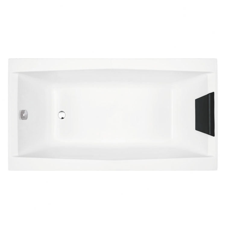 "Glass by Nameeks Eden 59"" x 27.5"" Drop-In Bathtub"