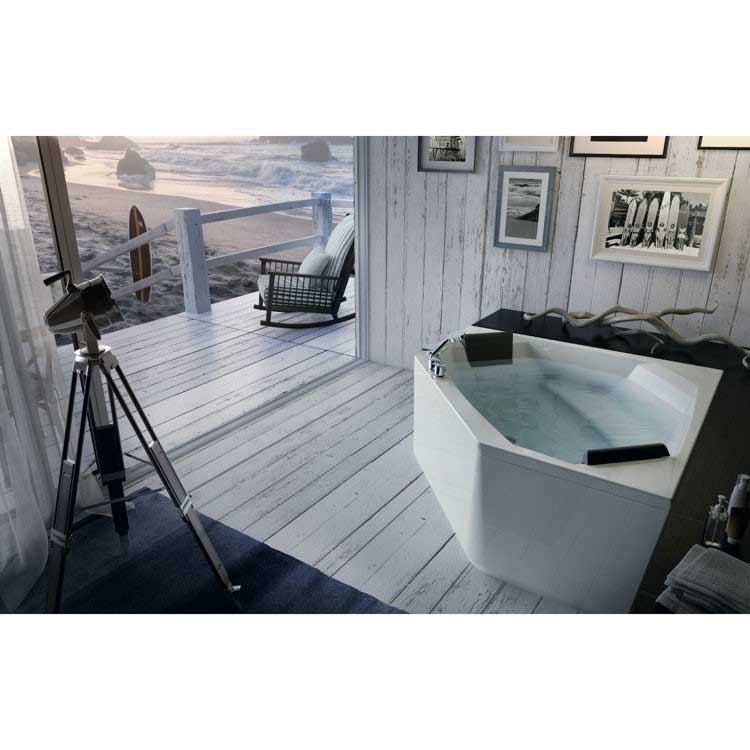 "Glass by Nameeks Eden 60"" x 60"" Corner Bathtub"