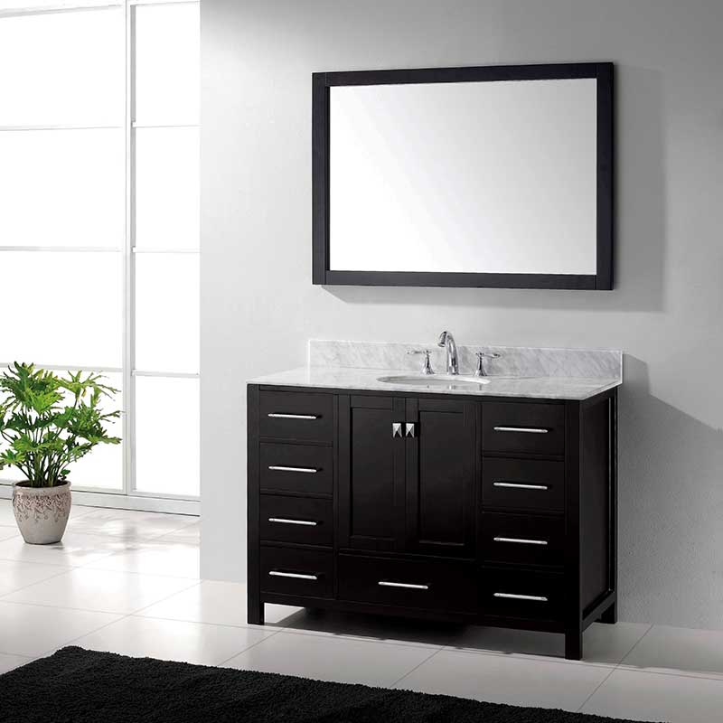 Virtu USA Caroline Avenue 48 Bathroom Vanity Cabinet in Espresso 2