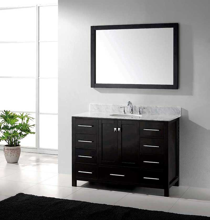 "Virtu USA Caroline Avenue 48"" Single Bathroom Vanity Cabinet Set in Espresso"
