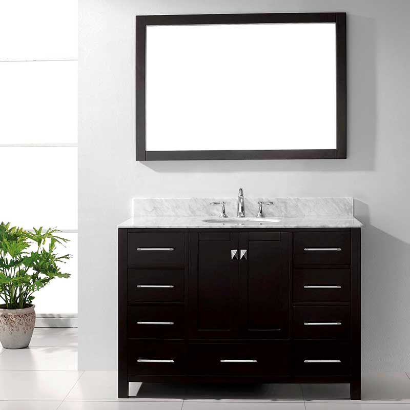 Virtu USA Caroline Avenue 48 Bathroom Vanity Cabinet in Espresso 3