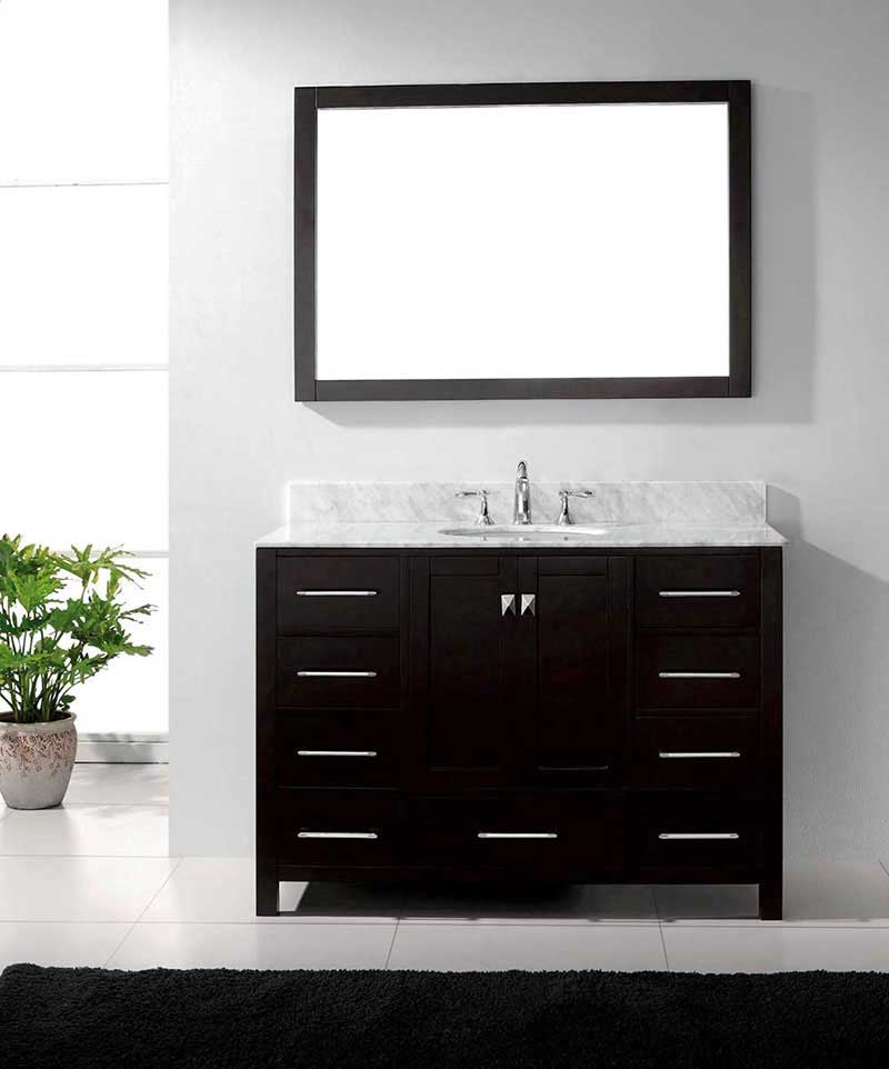 "Virtu USA Caroline Avenue 48"" Single Bathroom Vanity Cabinet Set in Espresso 2"