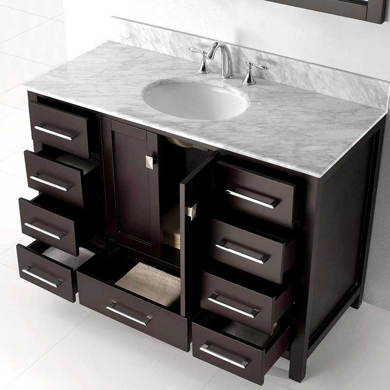 Virtu USA Caroline Avenue 48 Bathroom Vanity Cabinet in Espresso 4
