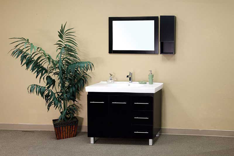 "Bellaterra Home Payne 8.7"" x 23.6"" Surface Mounted Medicine Cabinet 2"