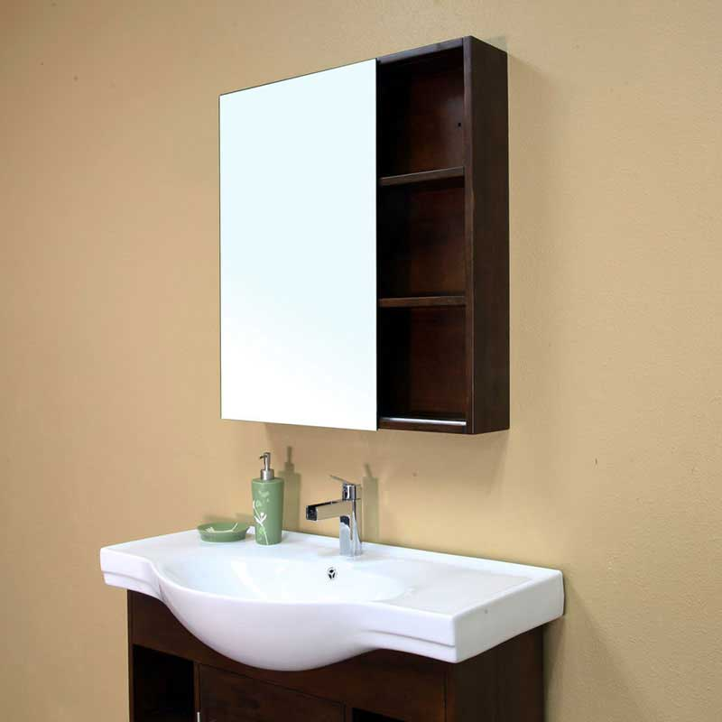 "Bellaterra Home Langdon 29.5"" x 31.5"" Surface Mounted Medicine Cabinet 4"
