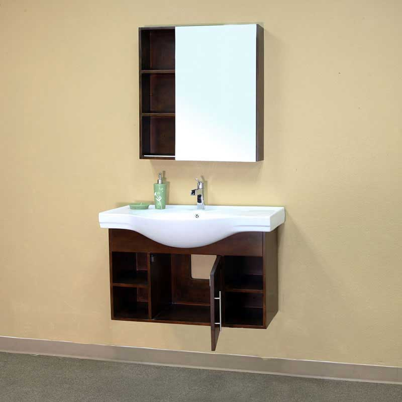 "Bellaterra Home Langdon 29.5"" x 31.5"" Surface Mounted Medicine Cabinet 6"