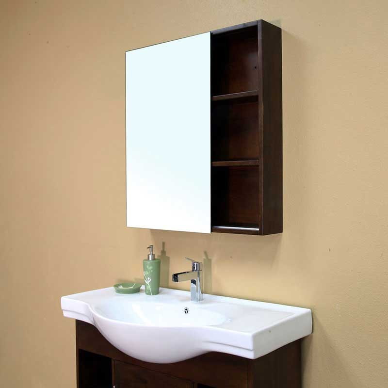 "Bellaterra Home Langdon 29.5"" x 31.5"" Surface Mounted Medicine Cabinet 7"