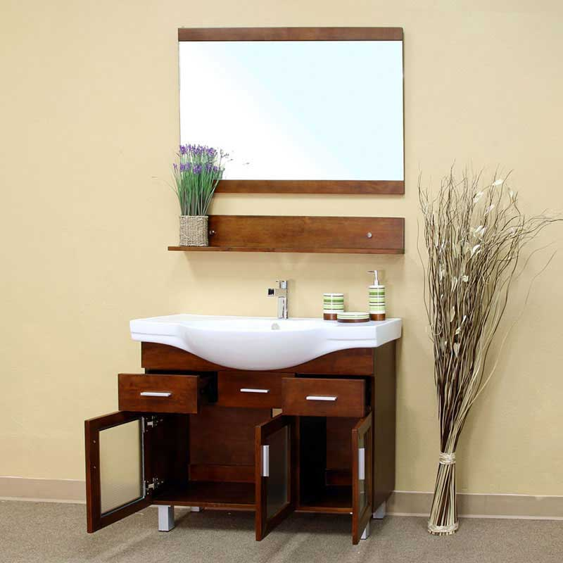 "Bellaterra Home Crenshaw 39.8"" Single Vanity Set 2"