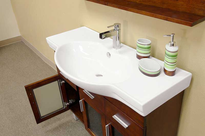 "Bellaterra Home Crenshaw 39.8"" Single Vanity Set 4"