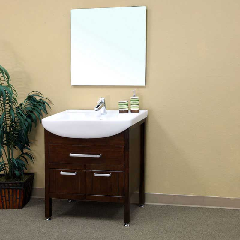 "Bellaterra Home Preston 29.9"" Single Vanity Set"