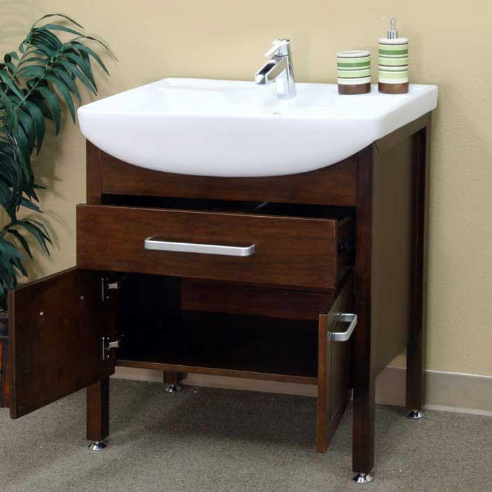 "Bellaterra Home Preston 29.9"" Single Vanity Set 2"