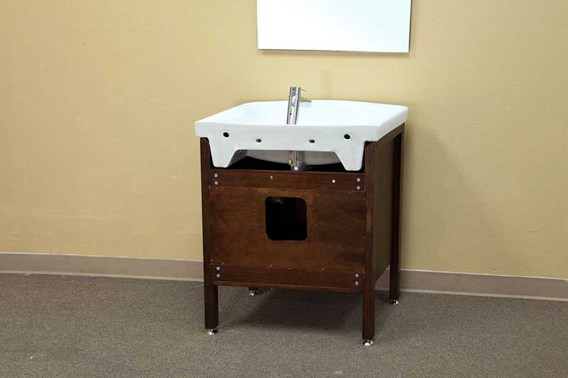 "Bellaterra Home Preston 29.9"" Single Vanity Set 4"