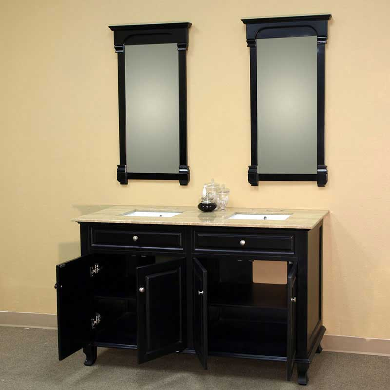 "Bellaterra Home Lewis 62"" Double Vanity Set 2"