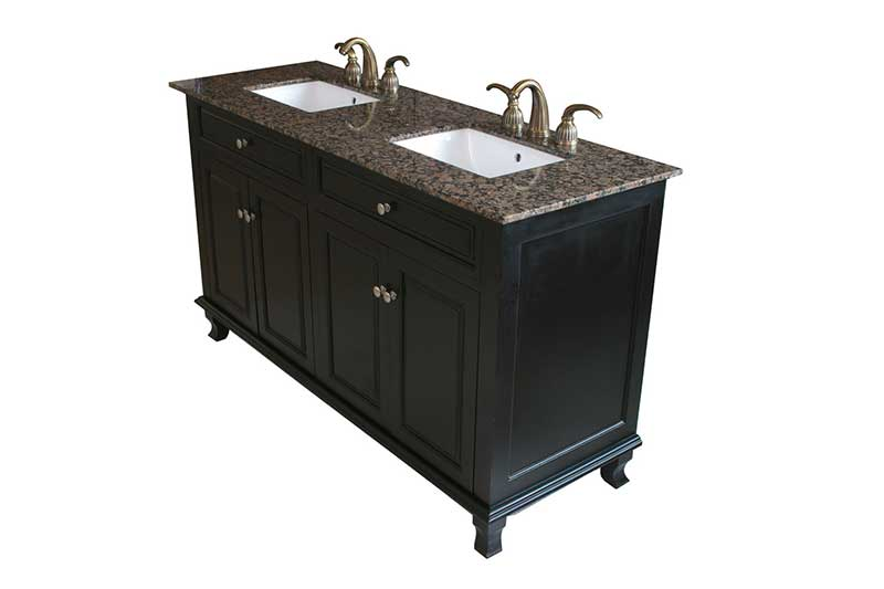 "Bellaterra Home Lewis 62"" Double Vanity Set 5"
