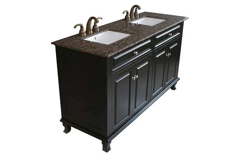 "Bellaterra Home Lewis 62"" Double Vanity Set 6"