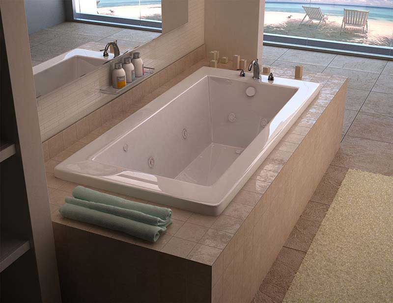 Venzi Villa 32 x 66 Rectangular Air & Whirlpool Jetted Bathtub with Left Drain By Atlantis