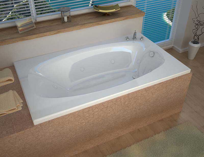 Venzi Talia 42 x 66 Rectangular Whirlpool Jetted Bathtub with Right Drain By Atlantis
