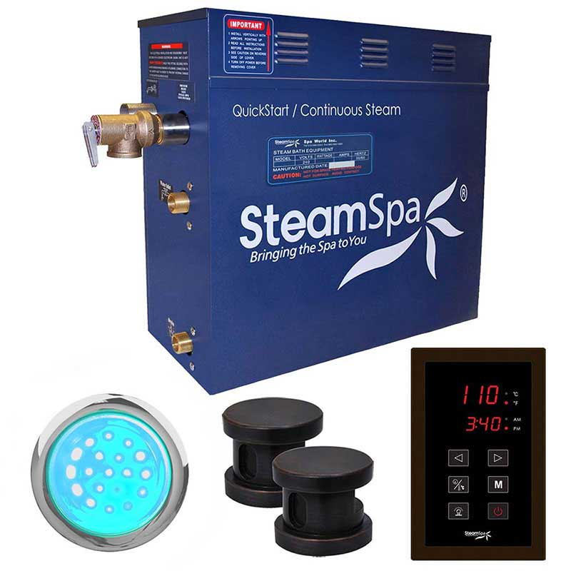 SteamSpa Indulgence 10.5 KW QuickStart Acu-Steam Bath Generator Package in Oil Rubbed Bronze