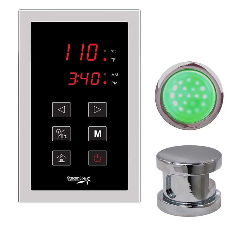 SteamSpa Indulgence Touch Panel Control Kit in Chrome