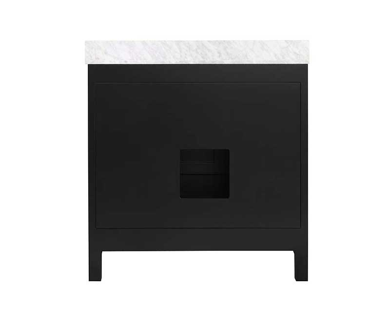 Anzzi Chateau 36 in. W x 22 in. D Vanity in Espresso with Marble Vanity Top in Carrara White with White Basin and Mirror 18