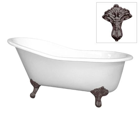 Kingston Brass VCT7D653129B5 Vintage Cast Iron Bathtub With Oil Rubbed Bronze Legs, Oil Rubbed Bronze