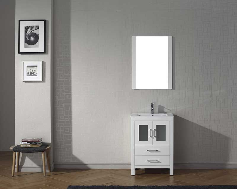 Virtu USA Dior 24 Single Bathroom Vanity Set in White
