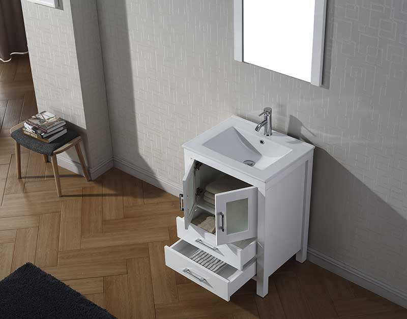 Virtu USA Dior 24 Single Bathroom Vanity Set in White 4