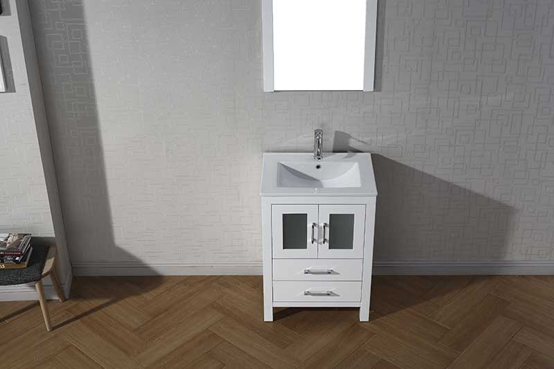 Virtu USA Dior 24 Single Bathroom Vanity Set in White 5