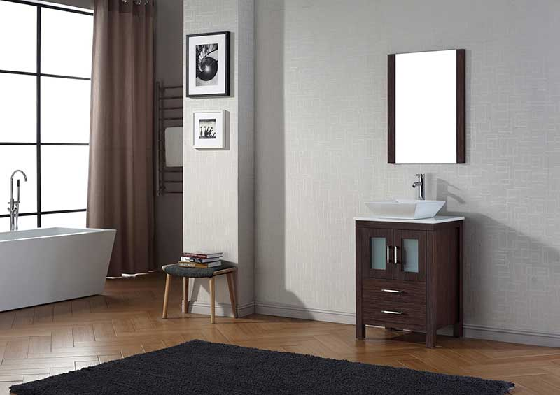 Virtu USA Dior 24 Single Bathroom Vanity Set in Espresso 2
