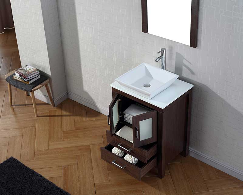 Virtu USA Dior 24 Single Bathroom Vanity Set in Espresso 4