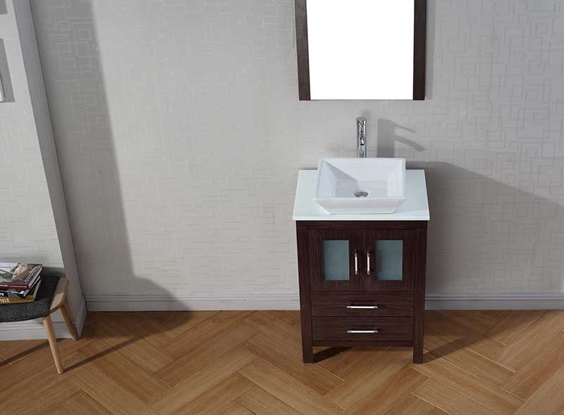 Virtu USA Dior 24 Single Bathroom Vanity Set in Espresso 5