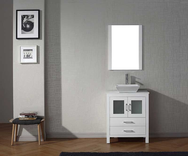 Virtu USA Dior 28 Single Bathroom Vanity Set in White