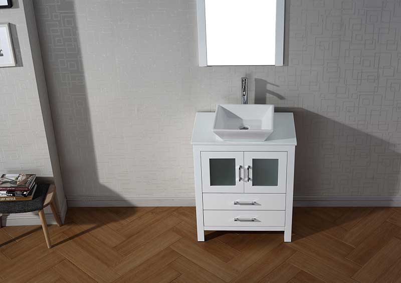 Virtu USA Dior 28 Single Bathroom Vanity Set in White 4