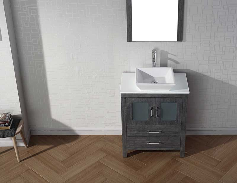 Virtu USA Dior 28 Single Bathroom Vanity Set in Zebra Grey 5